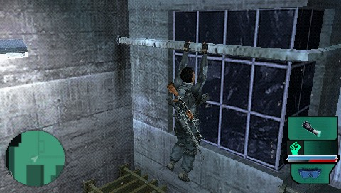 Syphon Filter: Dark Mirror PSP Yes, he does the climbing too