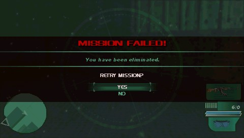 Syphon Filter: Dark Mirror PSP Mission failed!