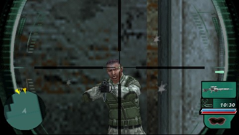 Syphon Filter: Dark Mirror PSP One headshot coming right up