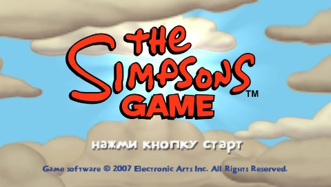 The Simpsons Game PSP Title screen