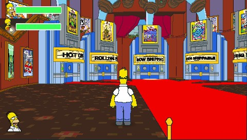 The Simpsons Game PSP One of later levels