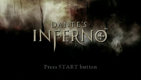 Dante's Inferno PSP Title screen
