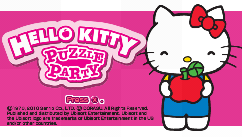 Hello Kitty: Puzzle Party PSP Title screen