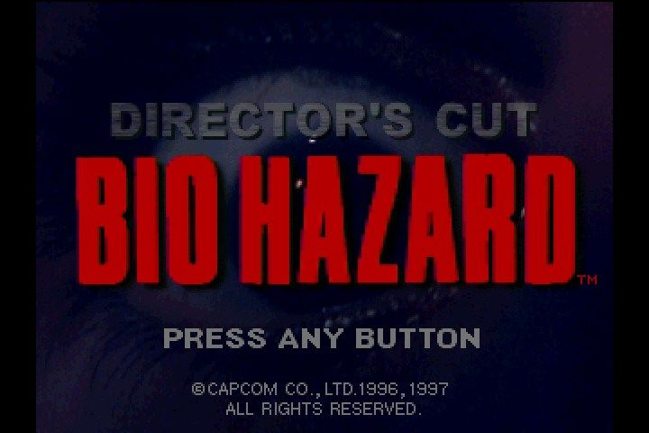 Resident Evil: Director's Cut PlayStation Japanese title screen