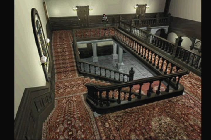 Resident Evil: Director's Cut PlayStation New camera angles appear throughout the arrange mode.