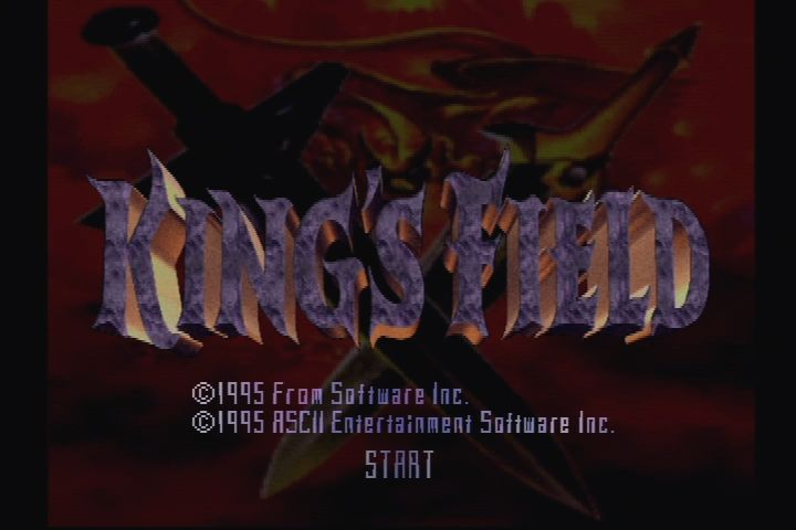 King's Field PlayStation Title screen (USA)