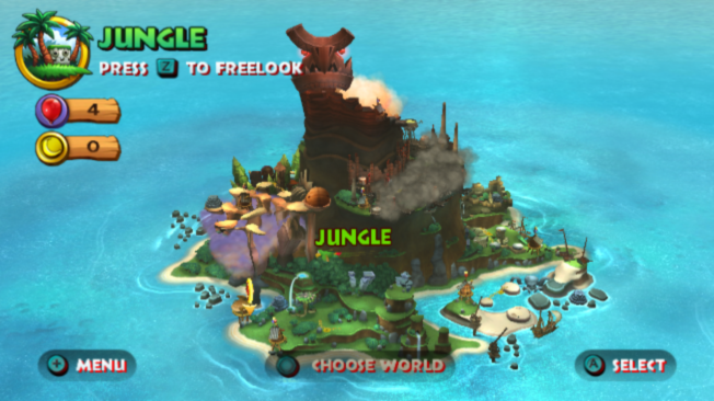 Donkey Kong Country Returns Wii Overworld (full view)