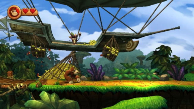 Donkey Kong Country Returns Wii DKCR has some very impressive backgrounds