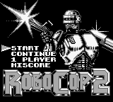 RoboCop 2 Game Boy Main Menu