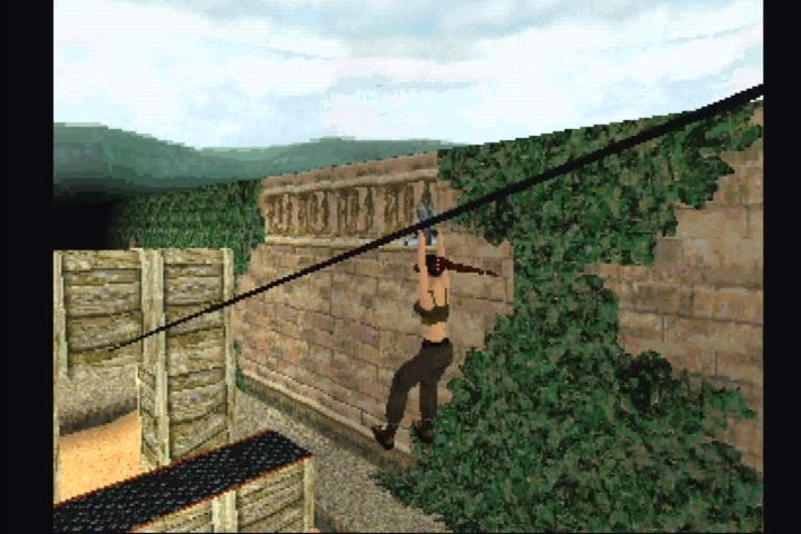 Tomb Raider II PlayStation Laura's home training course.