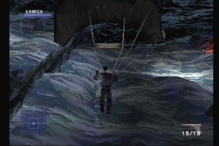 Syphon Filter 2 PlayStation Shot down over Colorado.  Oh, the humanity.