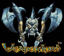 WeaponLord SNES Title Screen