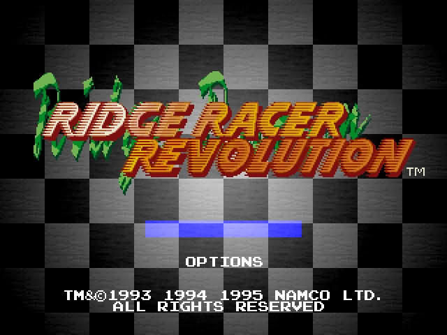 Ridge Racer Revolution PlayStation Title screen