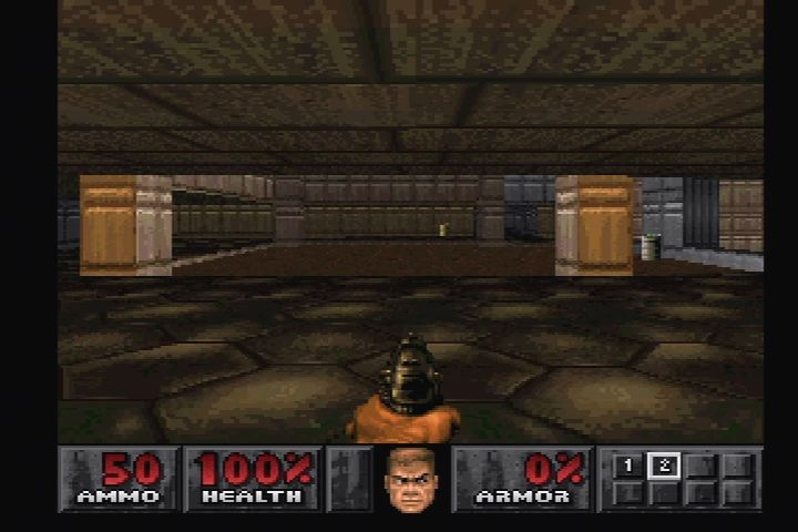 DOOM PlayStation First level of PSX Ultimate Doom