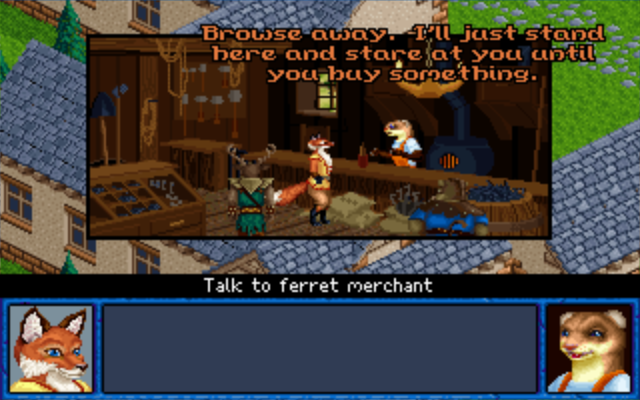 Inherit the Earth: Quest for the Orb Macintosh The Ferret Village