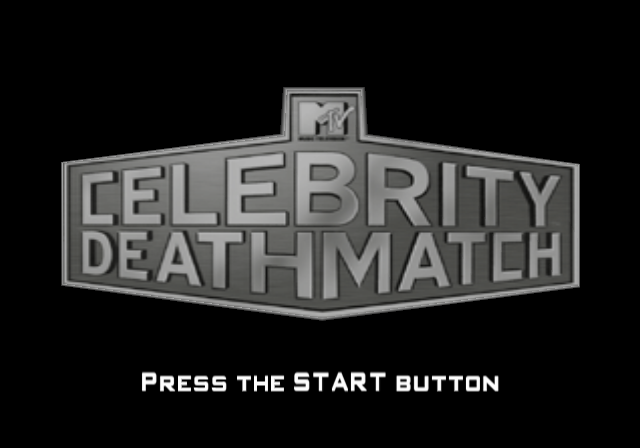 MTV Celebrity Deathmatch PlayStation 2 Title screen.