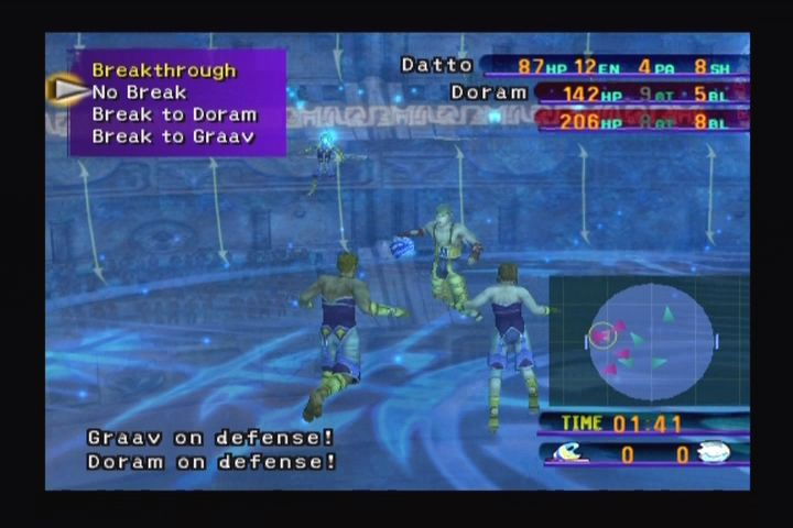 Final Fantasy X PlayStation 2 Blitzball is a playable sub-game.