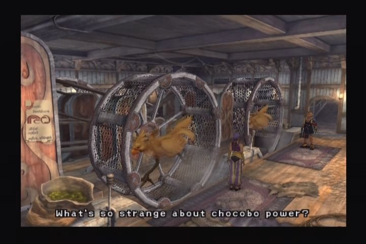 Final Fantasy X PlayStation 2 Chocobo power?! Call PETA!