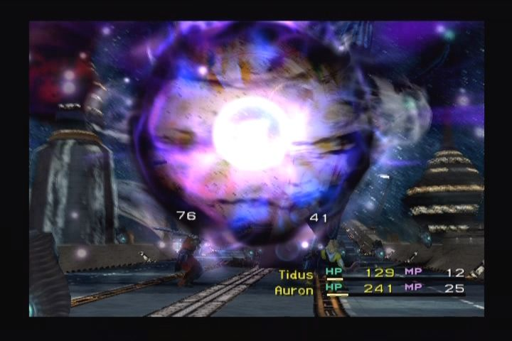 Final Fantasy X PlayStation 2 Enemy uses a special attack.