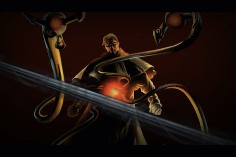 Spider-Man: Total Mayhem iPhone Doctor Octopus, via the pre-game FMV.