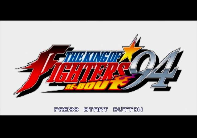 The King of Fighters '94 Re-bout PlayStation 2 Title screen.