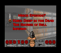 DOOM SNES Which episode would you like to play?