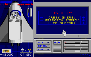 E.S.S. Atari ST Adjusting the energy and life support level of the shuttle for additional money