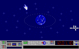 E.S.S. Atari ST Examining a current orbit situation before the launch