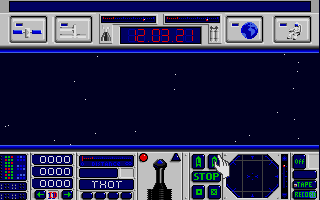 E.S.S. Atari ST Controlling shuttle in space from cockpit