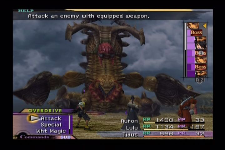 Final Fantasy X PlayStation 2 Boss fight