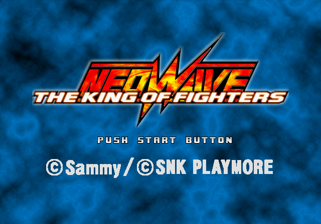 The King of Fighters: Neowave PlayStation 2 Title screen.