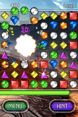 Bejeweled 2: Deluxe iPhone A nice little explosive effect.