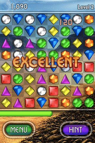 Bejeweled 2 Deluxe iPhone Why thank you.