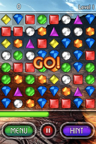Bejeweled 2: Deluxe iPhone Get that green bar near the right to move on. Too close to the left, and it's all over.