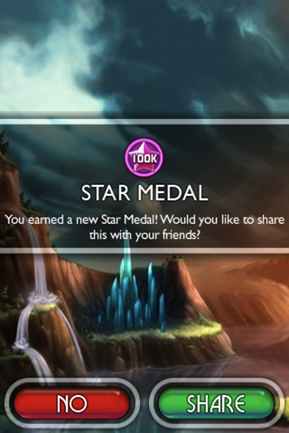 Bejeweled 2: Deluxe iPhone You can share your medals via Facebook ... and show off at the same time, of course.
