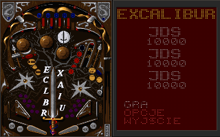Epic Pinball DOS Polish Excalibur Table