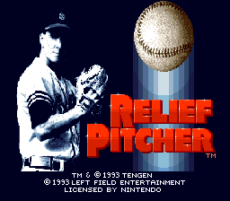 Relief Pitcher SNES Title screen