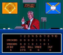 Relief Pitcher SNES A late game scenario