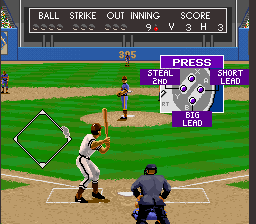 Relief Pitcher SNES The base runner's options