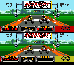 Road Riot 4WD SNES At the starting line