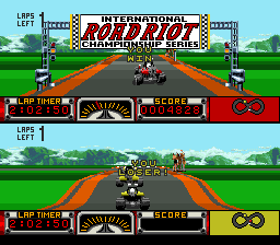Road Riot 4WD SNES Won the race