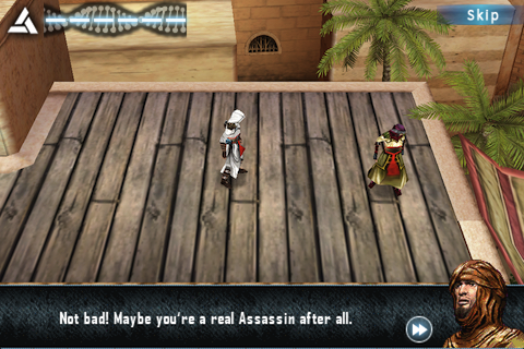 Assassin's Creed: Altaïr's Chronicles iPhone Why thank you strangely dressed male ... I think.