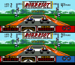 Road Riot 4WD SNES 2 player game