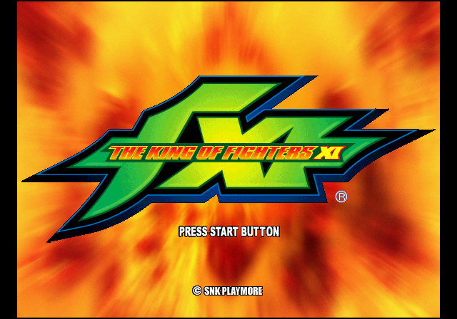 The King of Fighters XI PlayStation 2 Title screen