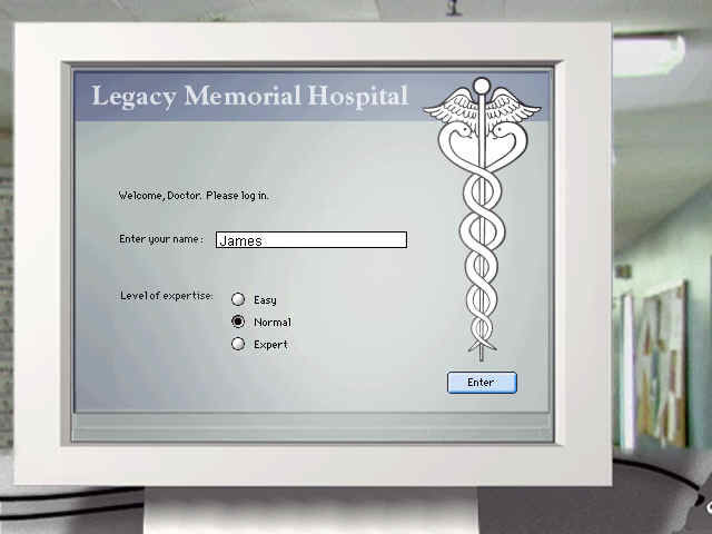 Code Blue Windows Logging into Legacy Memorial hospital.