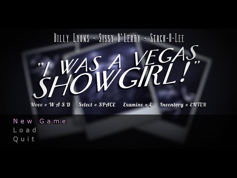 I Was a Vegas Showgirl Windows Title screen