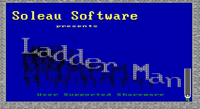 Ladder Man I DOS Title Screen