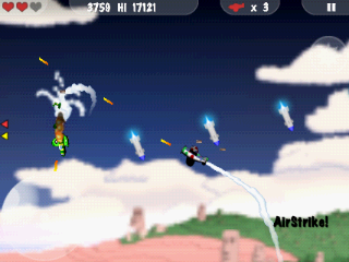 MiniSquadron Android Launching an airstrike