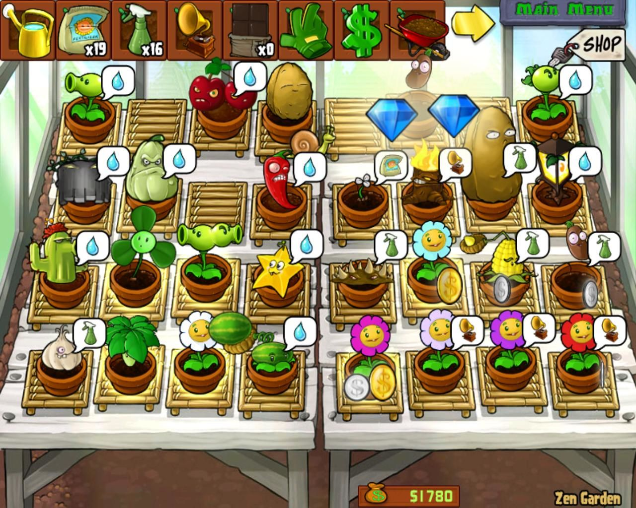Plants vs Zombies Zen Garden Zombies Windows Zen Garden