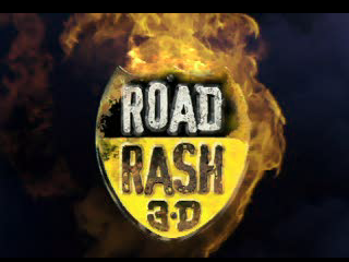 Road Rash 3-D PlayStation Game title in the cut-scene